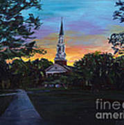 Chapel Sunset Art Print