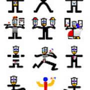 Character Act Art Print