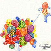 Characters In Balloon Art Print