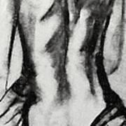 Charcoal Back Art Print