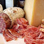 Salami And Cheese Art Print