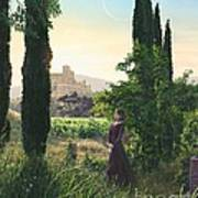 Chardonnay Wine Country Fantasy Art Print by Stu Shepherd