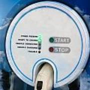 Charging Station For Electric Hybrid Car Art Print