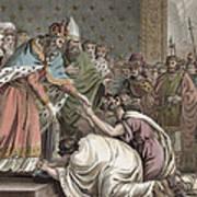 Charlemagne Receives The Ambassadors Art Print