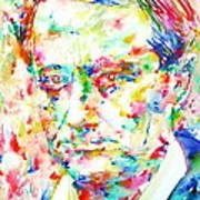 Charles Baudelaire Watercolor Portrait.1 Art Print