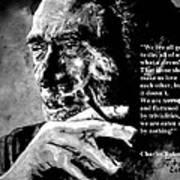 Charles Bukowski Print by Richard Tito