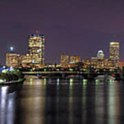 Charles River Reflections - Boston Print by Joann Vitali