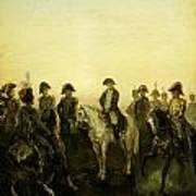 Charles Rochussen Napoleon Met Zijn Staf Art Print