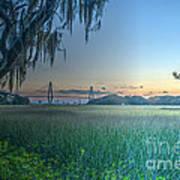 Charleston Bridge View Art Print