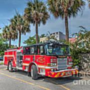 Charleston Fire Dept  Art Print