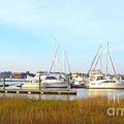 Charleston Harbor Boats Art Print