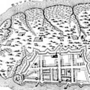 Charleston: Plan, 1704 Art Print