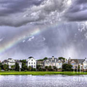 Charleston Rainbow Homes Art Print