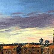 Charleston Rooftop Sunset Art Print