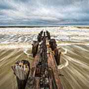 Charleston Sc Folly Beach Coastal Atlantic Ocean Art Print