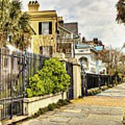 Charleston Sidewalk Art Print