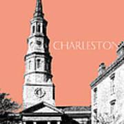 Charleston St. Phillips Church - Salmon        Art Print