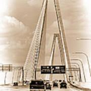 Charleston's Arthur Ravenel Jr. Bridge Art Print
