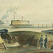 Charlestons Defense Circa 1863 Print by Aged Pixel