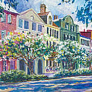 Charleston's Rainbow Row Art Print