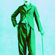 Charlie Chaplin The Tramp 20130216m150 Print by Wingsdomain Art and Photography