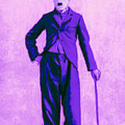 Charlie Chaplin The Tramp 20130216m40 Print by Wingsdomain Art and Photography