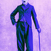 Charlie Chaplin The Tramp 20130216m60 Print by Wingsdomain Art and Photography