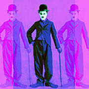Charlie Chaplin The Tramp Three 20130216m108 Art Print by Wingsdomain Art and Photography
