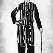 Charlie Chaplin Typography Poster Art Print
