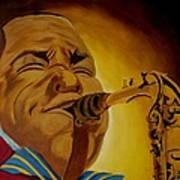 Charlie Parker-legends Of Jazz Art Print