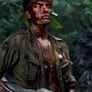 Charlie Sheen In Platoon Art Print