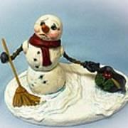 Charlie's Hat Snowman Art Print