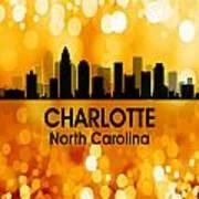 Charlotte Nc 3 Squared Art Print