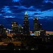 Charlotte North Carolina Panoramic Image Art Print by Chris Flees