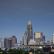 Charlotte Skyline - Clear Evening Art Print