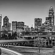 Charlotte Sunset Black And White Print by Brian Young
