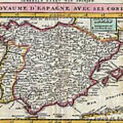Charming Old World Map Art Print