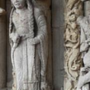 Chartres Cathedral Female Pilgrim Art Print