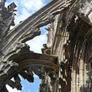 Chartres Flying Buttress Art Print