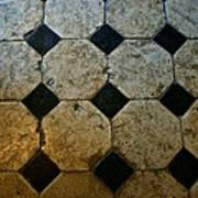 Chateau Brissac's Tile Floor Art Print