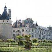 Chateau  Chenonceau And Garden Art Print