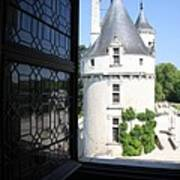 Chateau Chenonceau Tower Through Open Window  Art Print