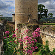 Chateau Chinon In The Loire Valley Art Print