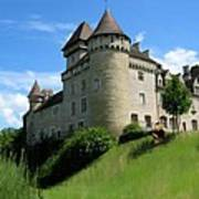 Chateau De Cleron Dans Le Doubs France Art Print