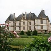 Chateau De Cormatin Garden Art Print