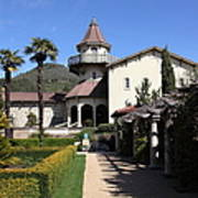 Chateau St. Jean Winery 5d22199 Print by Wingsdomain Art and Photography