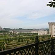 Chateau Vilandry And Garden View Art Print