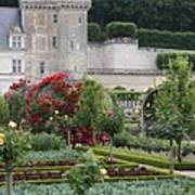 Chateau Villandry And The Cabbage Garden  Art Print