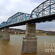 Chattanooga Longest Walking Bridge Art Print by Kathy  White