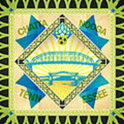 Chattanooga Quilt Square 1 Art Print